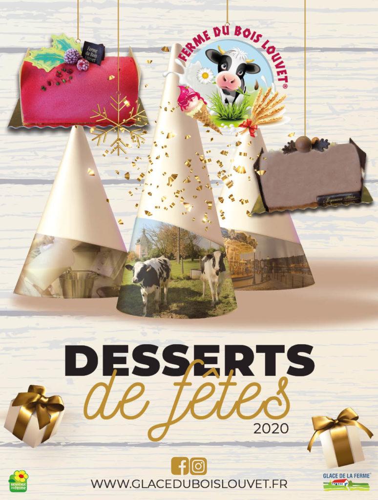 Desserts de fêtes 2020 glaces ferme bois louvet eure normandie honfleur calvados